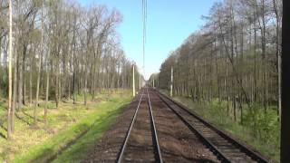 preview picture of video 'Odcinek Katowice - Zebrzydowice z tyłu pociągu EIC Polonia'