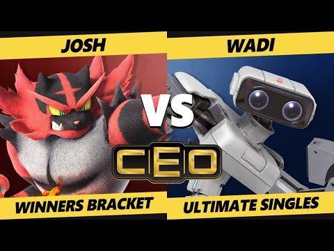 CEO 2019 SSBU - TM06 | Josh (Incineroar) Vs. WaDi (ROB) Smash Ultimate Tournament Top 192 Winners