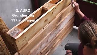 DIY Palettenbett mit AURO Naturfarben