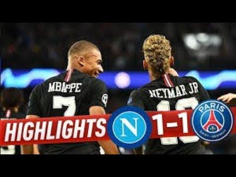 Napoli Vs PSG 1-1⚽Full Highlights & All Goals⚽champions league⚽ HD #Mbappe #Neymar #Mertens видео