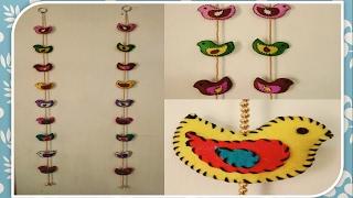 How To Make Cute  Felt Bird Wall Hanging !! SUPER EASY HOME DECOR!!