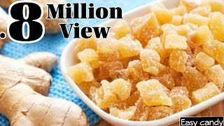 Ginger Candy Recipe   Candied Ginger Recipe   Injji Mittayi   Easy Candy Recipe   Homemade