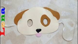 Hunde Maske basteln - How to make a dog mask - как сделать маску собаки из бумаги