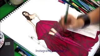 Fashion Sketch Painting For Beginners - Slow Version