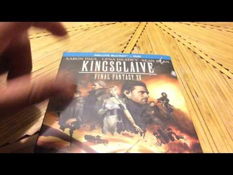 final fantasy XV kingslave blu ray unboxing distribuidor blu ray