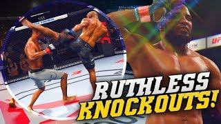 EA UFC 3 Ranked: Yoel Romero Savage Head Kick Knockout! New Takedowns In EA Sports UFC 3!