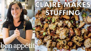 Claire Makes Thanksgiving Stuffing | Bon Appétit