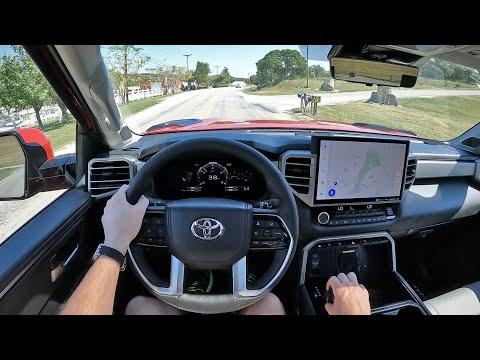 2022 Toyota Tundra Limited | i-Force Max Hybrid - POV First Drive (Binaural Audio)