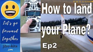 How To Land RC Plane On Grass? - How To Fly RC Planes For Beginners? - Bix3 RC Plane (Bixler 3) Ep2