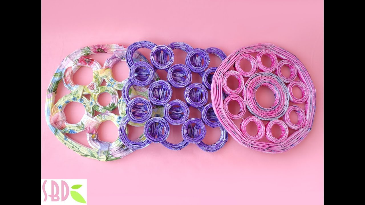 SOTTOPENTOLA DELLE MERAVIGLIE ♥ Sottopentola con carta riciclata ♥ Riciclo Creativo
