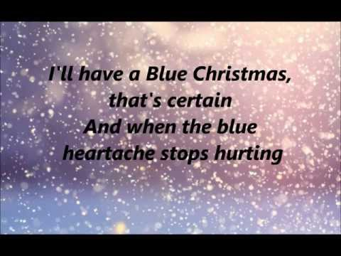 glee blue christmas lyrics - Blue Christmas Lyrics