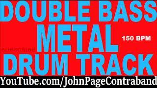 Double Bass Metal Drum Track 150 bpm