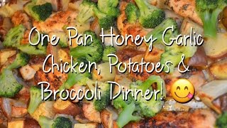One Pan Honey Garlic Chicken, Potatoes & Broccoli Recipe Tutorial | The Urban Lady Bug