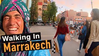 Walking Tour Of Modern Marrakech — Morocco Africa Video Walk【4K】🇲🇦