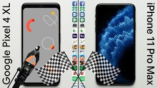 Google Pixel 4 XL vs Apple iPhone 11 Pro Max Speed Test