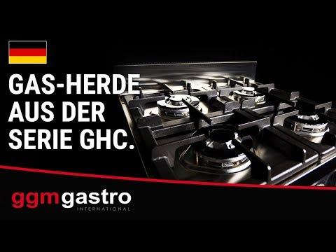 Gas-Herde aus der Serie GHC - GGM Gastro