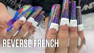 Acrylic Nails   SCULPTED REVERSE FRENCH