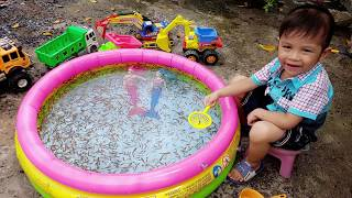 Đồ chơi trẻ em bé pin vớt cá con ❤ PinPin TV ❤ Baby fish toys