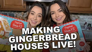 Making Gingerbread Houses - Merrell Twins LIVE