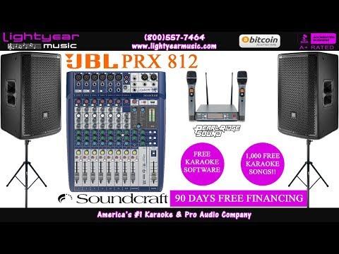 JBL PRX 812 | Professional Karaoke System | FREE Karaoke Software | FREE Karaoke Songs ✅