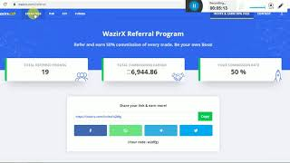 WAZIRX (  CONVERT BTC IN INR AND WITHDRAW IN BANK ACCOUNT ) BEST EXCHANGE FOR CONVERT CRYPTO IN INR