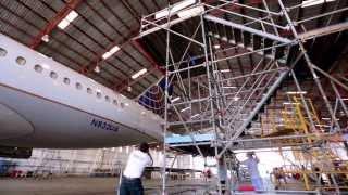 Смотреть онлайн Установка Wi-Fi в огромном самолете