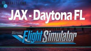 MSFS 2020 Live - Jacksonville to Daytona Beach - Ultra Settings!