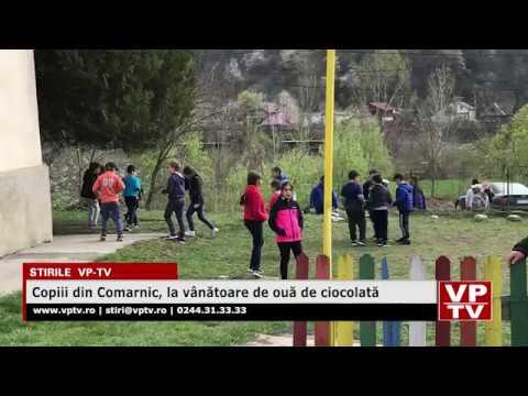 Copiii din Comarnic, la vânătoare de ouă de ciocolată