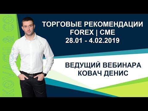 Торговые рекомендации FOREX | CME от Ковача Дениса 28.01 - 4.02.2019