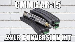 CMMG Bravo 22LR AR-15 Conversion Kit 5.56/.223 to .22LR with 3-25 Round Mags - 22BA651
