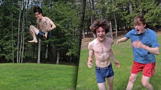 STANDING DOUBLE BACKFLIP LANDED ON GRASS!