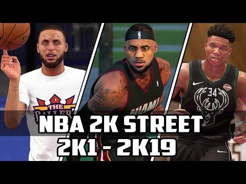History of NBA 2K Street Blacktop - (2K1-2K19)