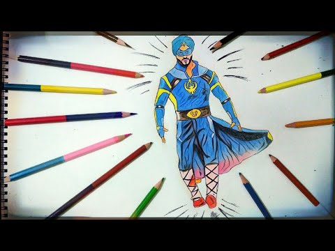 How To Draw An Amazing Drawing Of A Flying Jatt Ft Tiger Shroff