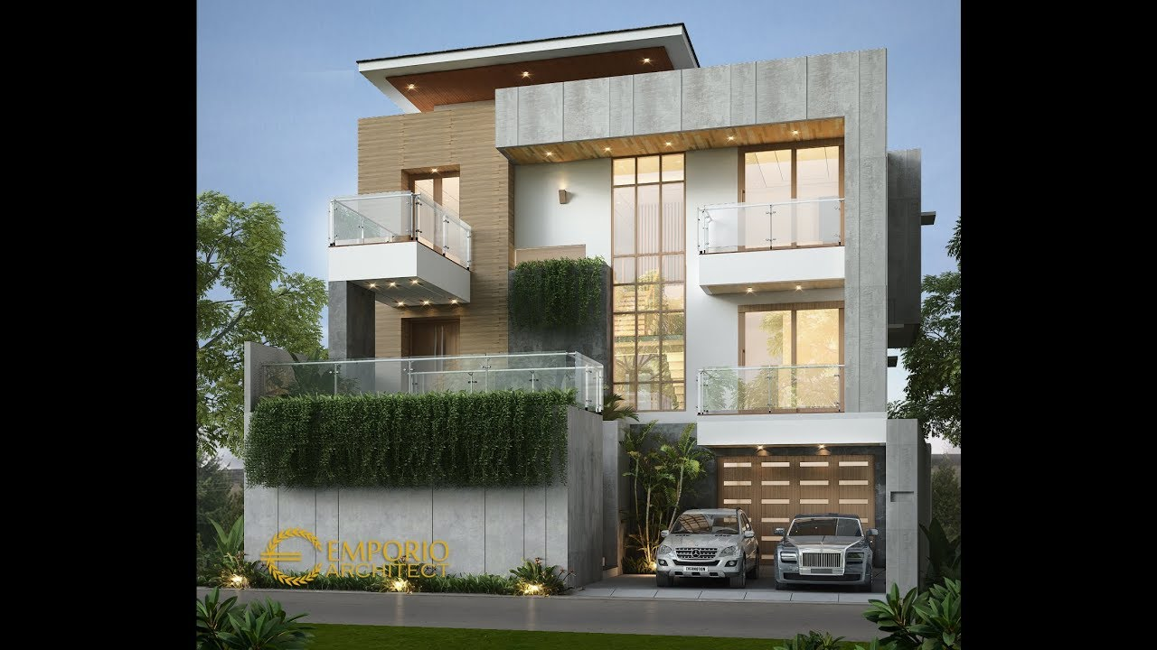 Video 3D Mrs. Istia Modern House 3 Floors Design- Bandung