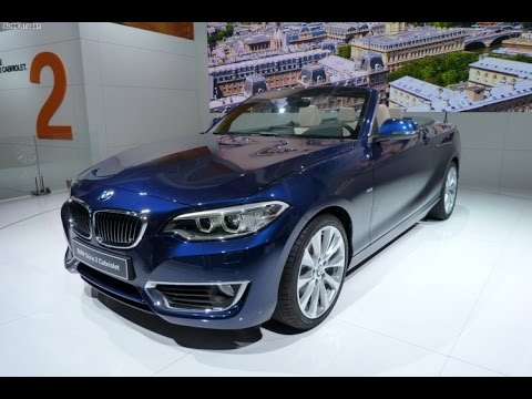 A closer look at the BMW 2 Series Convertible - 2014 Paris Motor how
