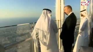 Президент Ильхам Алиев ознакомился со знаменитым «Бурдж-Халифа» в Дубае