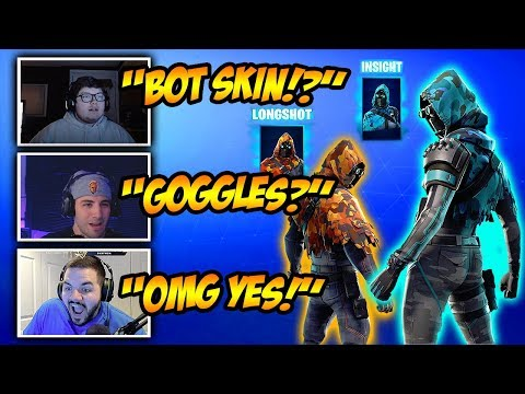 , title : 'Streamers *REACT* To New Insight + Longshot Skins! Funny Fortnite Clips & Crazy Moments!'