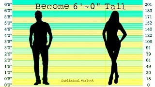 """BECOME 6' 0"""" TALL FAST - AT ANY AGE!! SUBLIMINAL WARLOCK"""