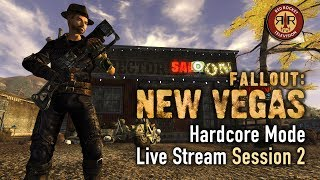 Fallout New Vegas - PC Modded Live Stream - Hardcore Mode - Session 2