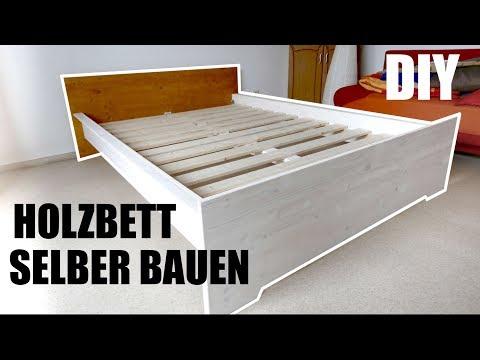 Bett aus Massivholz selber bauen. Wirklich einfach! ANLEITUNG