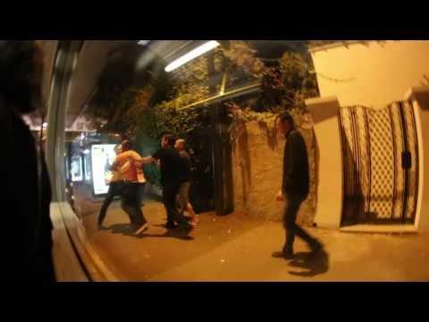 bus driver attacks w/ pepper mace spray - raw footage