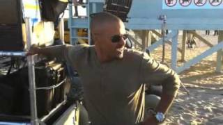Shemar Moore on the Set