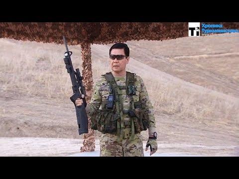 Президент Туркменистана показал, как нужно обращаться с оружием
