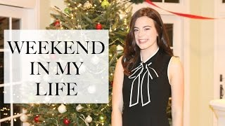 WEEKEND IN MY LIFE | Holiday Parties, Birthday Party, And More! | EmilyOandbows