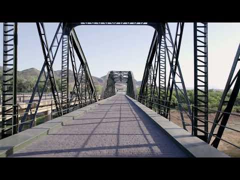 Obras de restauración del Puente de Hierro sobre el río Guadalhorce
