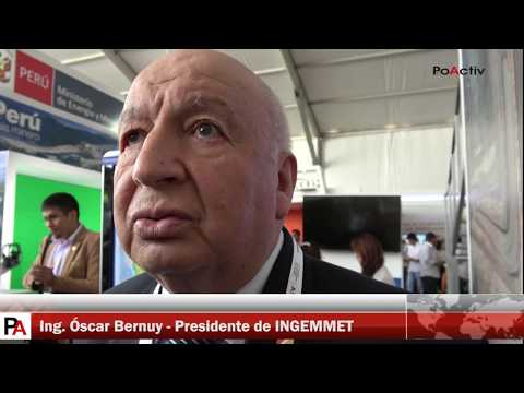 PERUMIN 33: Entrevista al Ing. Óscar Bernuy, Presidente de INGEMMET