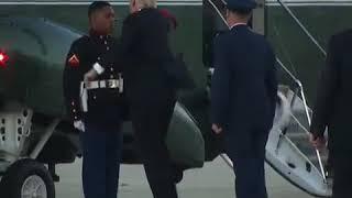 ترامب في موقف موقف محرج مع عسكري