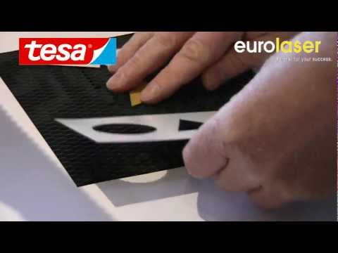 tesa® ACXplus Black Line | Laser cutting test