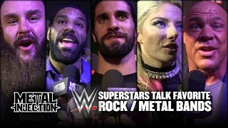 WWE Superstars Reveal Favorite Rock / Metal Bands 2017 | Metal Injection