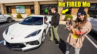 CONFRONTING the guy who FIRED ME with my NEW 2020 C8 CORVETTE...